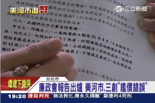 廉政會報告出爐:美河市、三創「鑑價錯誤」