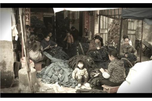 牛仔褲「噴砂」工廠(圖/翻攝自半島電視台)