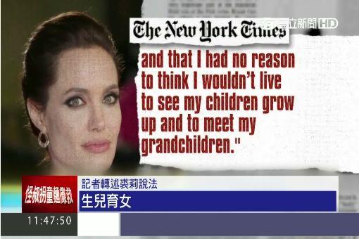 """割卵巢防癌! 裘莉不滿40歲.將入""""更年期"""""""