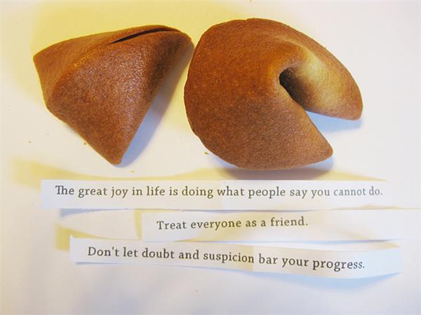 幸運餅乾 圖片來源:flickr Shasha ma