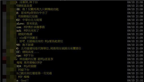 網友讚柯P/翻攝自批踢踢實業坊