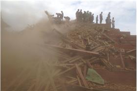 地震,尼泊爾 (達志影像/美聯社)