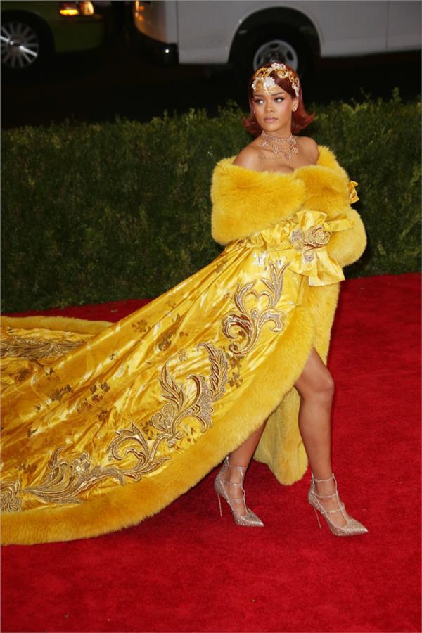 Rihanna/Met Gala(圖/達志影像)
