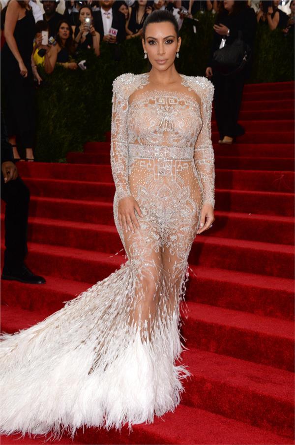 Kim Kardashian金卡達夏/Met Gala(圖/達志影像)