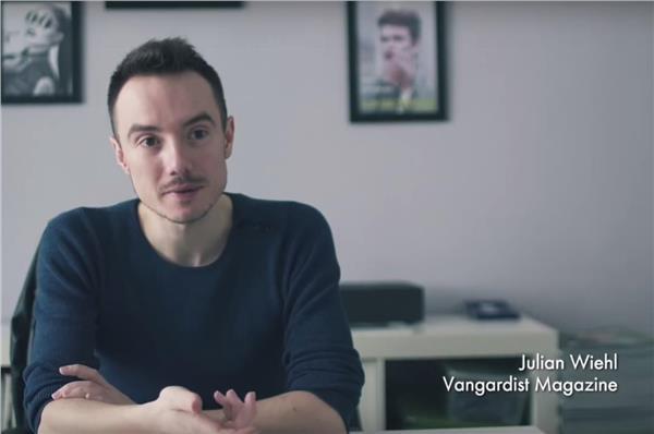 奧地利《Vangardist》總編輯維爾(Julian Wiehl)(圖/翻攝自YouTube)