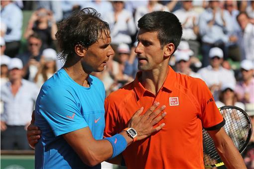 Novak Djokovic與Rafael Nadal