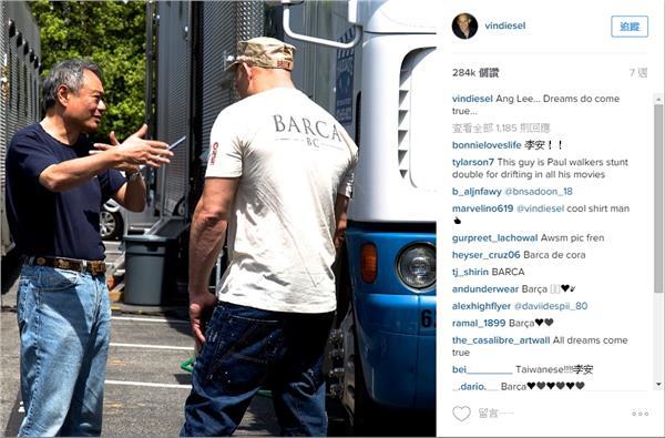 馮迪索與李安/馮迪索Instagram