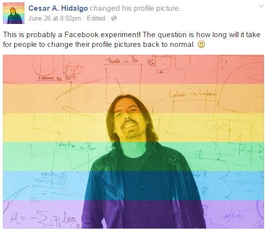 Facebook LGBT rights (Photo Credit: Facebook)