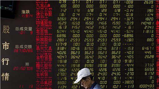 中國股市(圖/美聯社/達志影像)