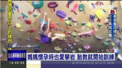美國超強小女嬰 1歲8個月就會攀岩