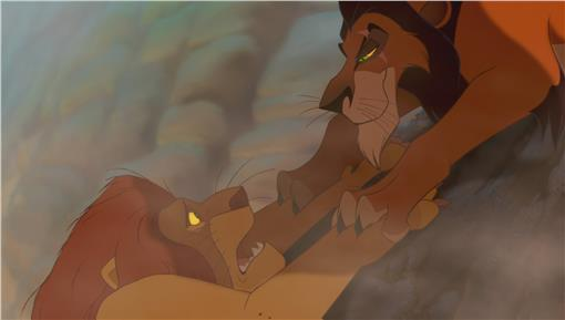 獅子王,刀疤,木法沙-翻攝自百度百科