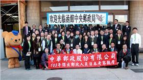 ▲去年郵政人員參訪日本的郵政機構。(圖/翻攝自公務出國報告資訊網站)