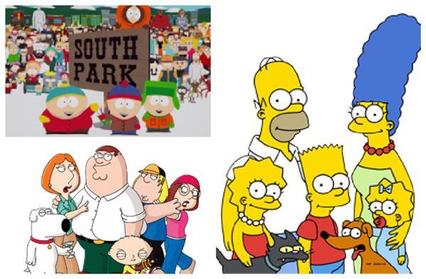 辛普森家庭,南方四賤客,蓋酷家族/翻攝自wiki