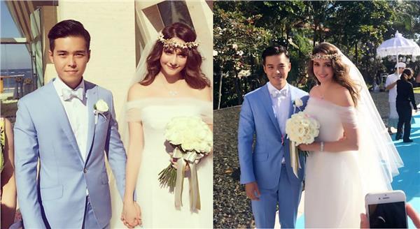 ▲瑞莎和老公Mike甜蜜完婚。(圖/翻攝自瑞莎Instagram)