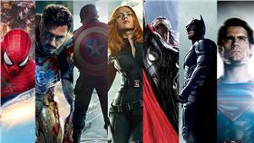 超級英雄首圖(合成圖/取自Marvel、電影官網、IMDB)