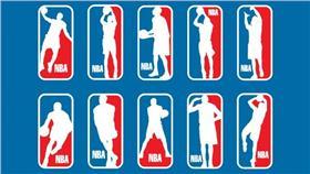 NBA Logo(圖/翻攝自Behance,Jesse Nuñez)