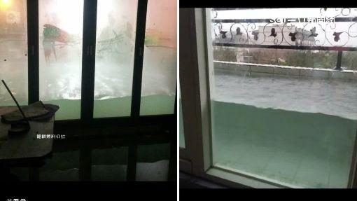 超強氣密窗 擋下淹水完勝卻變水族箱