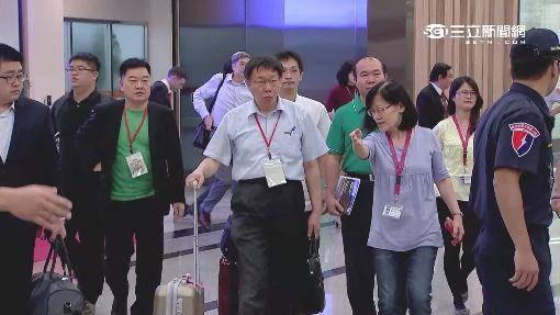 上海行結束遇七夕 柯P:正常上班啊