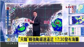 三立準氣象,天鵝颱風,潘大綱,午後雷陣雨,海上颱風警報