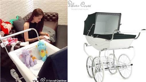 昆凌、嬰兒車/微博、淘寶網
