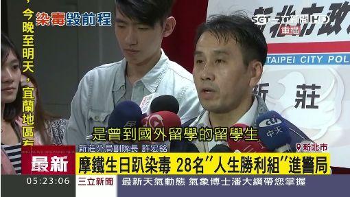 """優先)摩鐵生日趴染毒 28名""""人生勝利組""""進警局"""