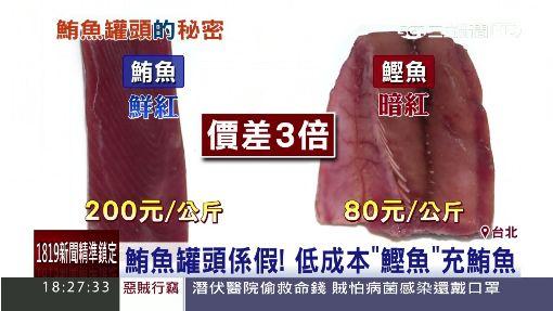 """鮪魚罐頭係假! 低成本""""鰹魚""""充鮪魚"""