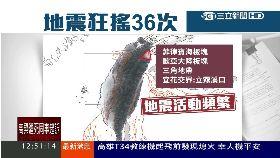 地震連36起1200