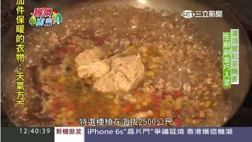 凍頂紅茶入菜配杏鮑菇 蜜香茶燉飯化口