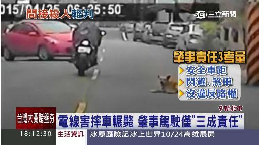 電線害摔車輾斃 肇事駕駛僅「三成責任」