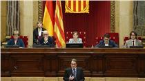 11月9日加泰隆尼亞議會通過啟動獨立決議(圖/美聯社/達志影像)