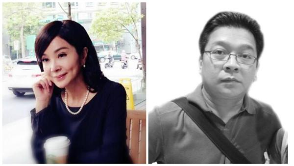 陳美鳳與前男友張富(合成圖/翻攝自陳美鳳臉書、台海網)