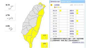 2015/11/20 1905大雨特報-取自中央氣象局網站