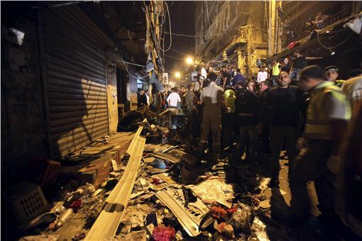 黎巴嫩遭自殺式炸彈襲擊。(圖/路透社/達志影像)