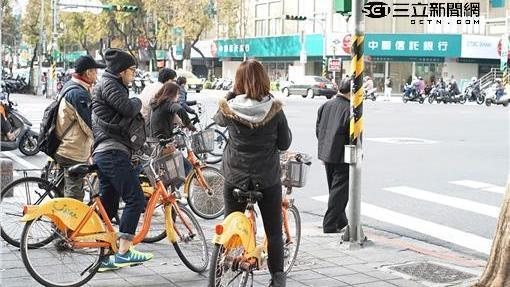 寒流,冷氣團,youbike(林敬旻攝)