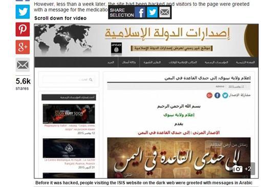 駭客,IS,伊斯蘭國,反恐 (圖/翻攝自每日郵報)