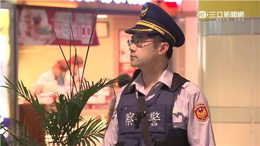 台北捷運警察反恐安檢巡邏