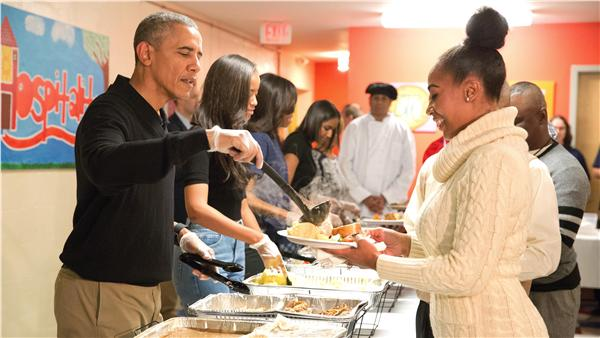 歐巴馬,感恩節,警戒,火雞,白宮(圖/美聯社/達志影像)