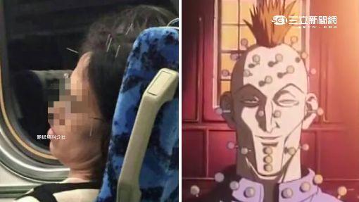 """搭火車好忙! 婦人""""滿頭針灸""""嚇壞乘客"""