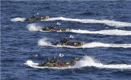 南韓兩棲突擊車,軍售,武器,AAV 圖/美聯社/達志影像