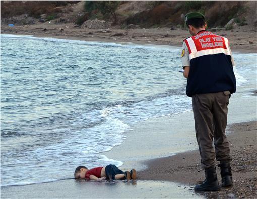 敘利亞難民男童(圖/美聯社/達志影像)