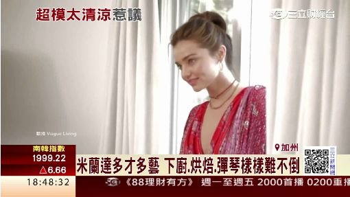 澳洲超模米蘭達秀豪宅 全裸拍封面惹議