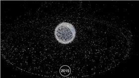 地球被太空垃圾包圍/圖截自YouTube