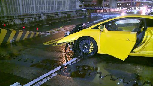 開超跑載小模出遊 不熟悉撞車得賠700萬