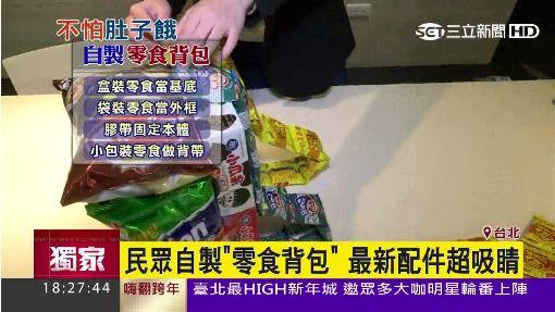 民眾自製「零食背包」 最新配件超吸睛
