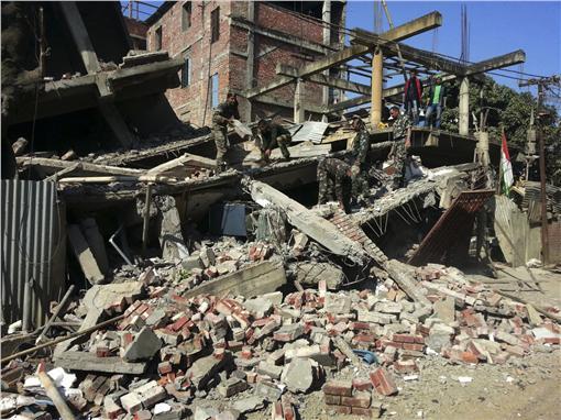 印度地震 圖/美聯社/達志影像