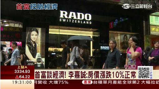 首富談經濟! 李嘉誠:房價漲跌10%正常