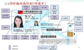 新版身分證 圖/翻攝自內政部晶片國民身分證簡報