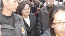 總統大選/蔡英文抵達現場/朱凱弘攝影