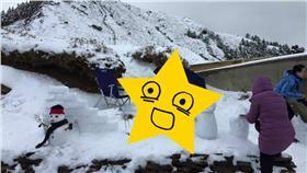 龍貓、下雪(圖/爆料公社