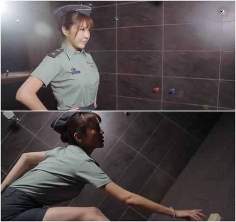 劉樂妍軍服深蹲減肥皂/youtube